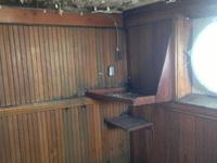 Water damage in the captain's cabin