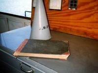 Logbook and bullhorn