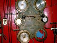 Engine room gauge panel from 1903