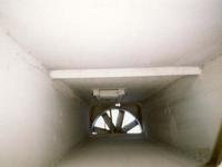 Tunnel vent fan from below